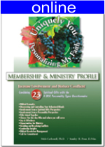 Combining 23 Spiritual Gifts w/4 (DISC) Personality Online Profile (approx. 70 printed pgs.) Expanded Version
