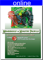 Combining 7 Spiritual Gifts w/4 (DISC) Personality Online Profile (approx. 55 printed pgs.)  Expanded Version